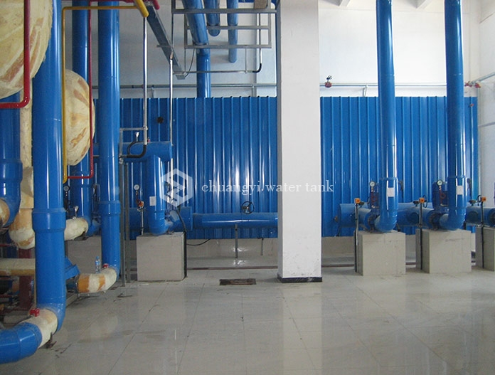 Beijing yinghai sanyuan dairy refrigeration room project- Glass steel water tank
