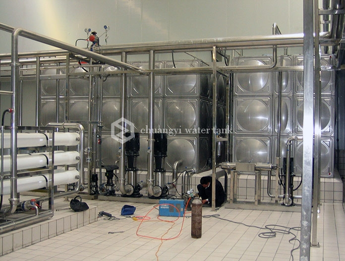 Ningxia wuzhong yili dairy project - Stainless steel water tank